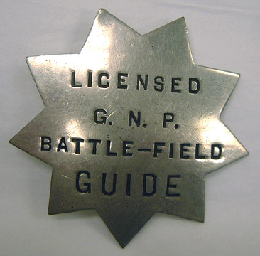 Original 1915 Licensed Battlefield Guide Badge